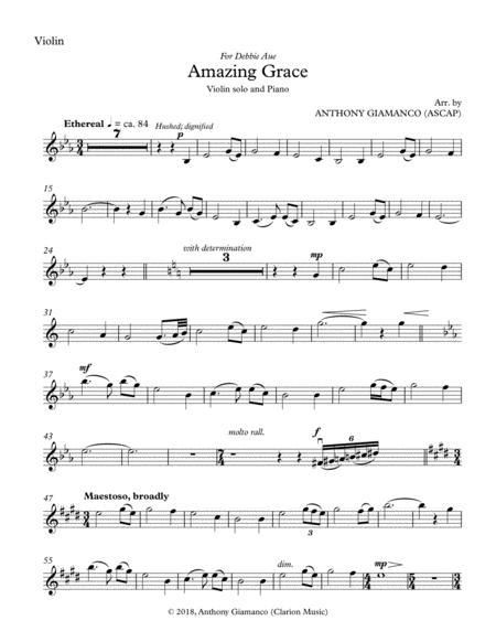 Amazing Grace (violin solo and piano) - VIOLIN PART