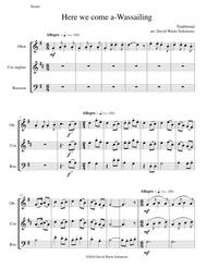 Here we come a-wassailing for double-reed trio (oboe, cor anglais, bassoon)