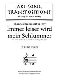Immer leiser wird mein Schlummer Op.105 No. 2 - Score