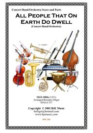 All People On Earth Do Dwell - Concert Band - Orchestra Score and Parts PDF