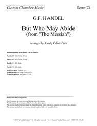 But Who May Abide (Messiah): string duet/trio/quartet