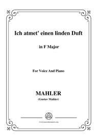 Mahler-Ich atmet' einen linden Duft in F Major,for voice and piano