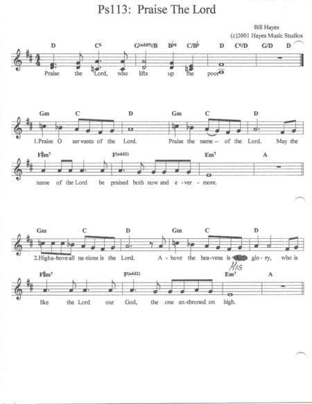 Praise The Lord - Psalm 113 (song)