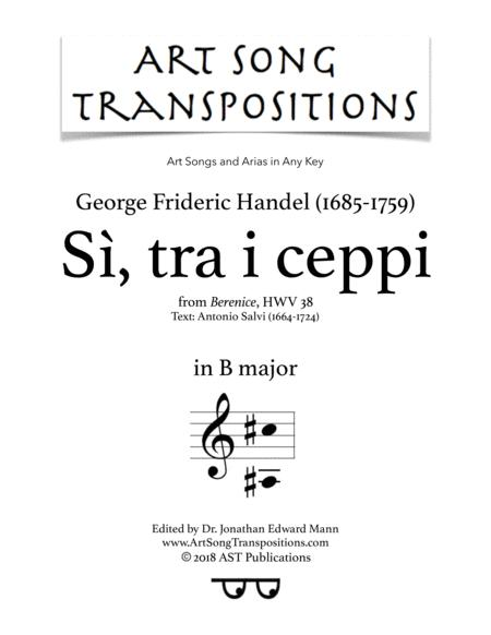 Sì, tra i ceppi (B major)