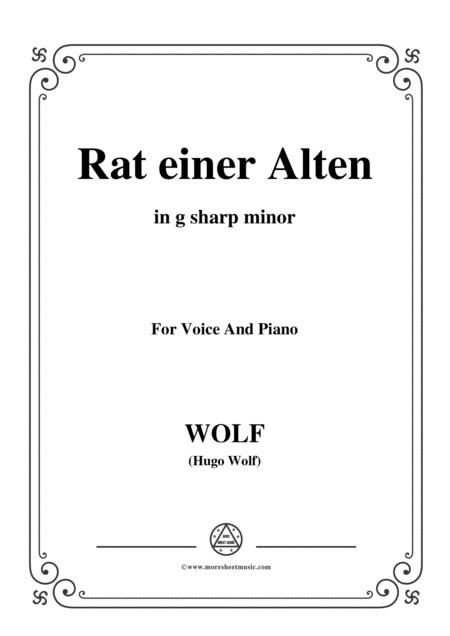 Wolf-Rat einer Alten in g sharp minor,for voice and paino