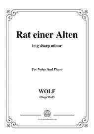 Wolf-Rat einer Alten in g sharp minor,for voice and paino