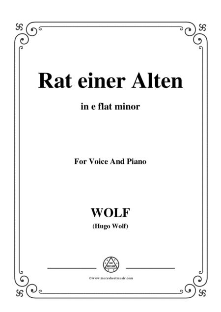 Wolf-Rat einer Alten in e flat minor,for voice and paino