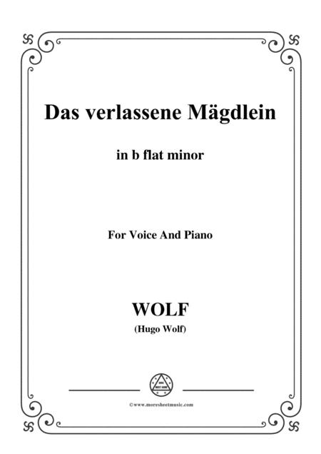 Wolf-Das verlassene Mägdlein in b flat minor,for voice and paino