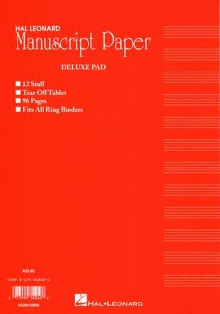 Deluxe Manuscript Pad 96Pg Red Australian