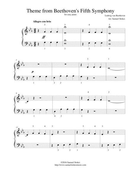 Download Theme From Beethovens Fifth Symphony For Easy