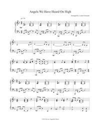 Download Angels We Have Heard Jazz Sheet Music By Public