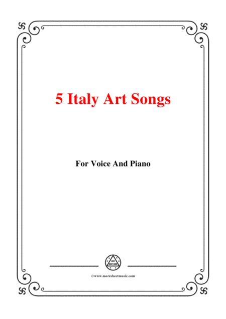 5 Italy Art Songs(90),for voice and piano