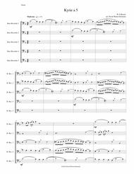 Mozart Kyrie canon a 5 arranged for 5 bass recorders