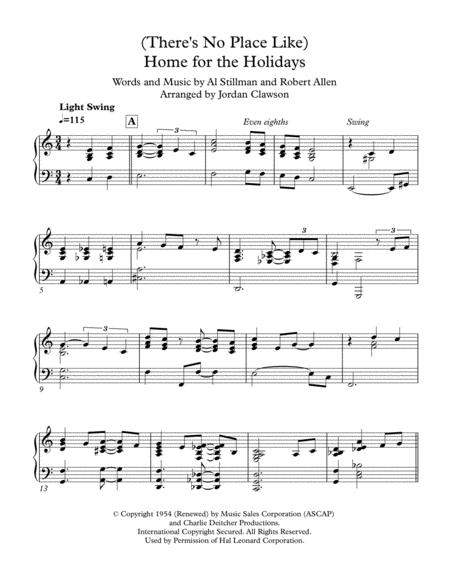 (There's No Place Like) Home For The Holidays - Jazz Waltz