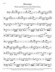 Blessings (Easy key of C) - Cello