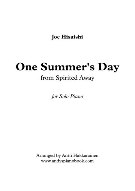 One Summer's Day (from Spirited Away) - Piano