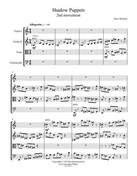 Shadow Puppets (String Quartet)