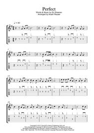 Download Perfect By Ed Sheeran Guitar Sheet With Tabs Sheet Music By