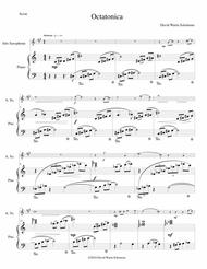 Octatonica for alto saxophone and piano