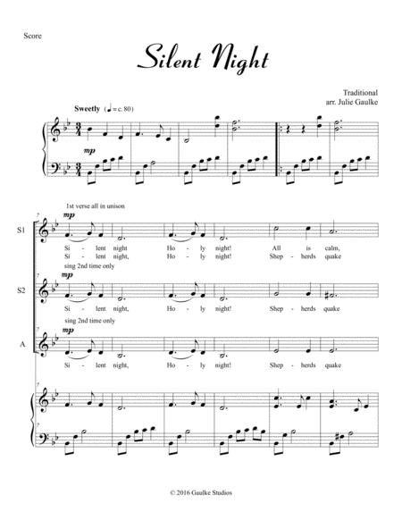 Silent Night for SSA plus piano