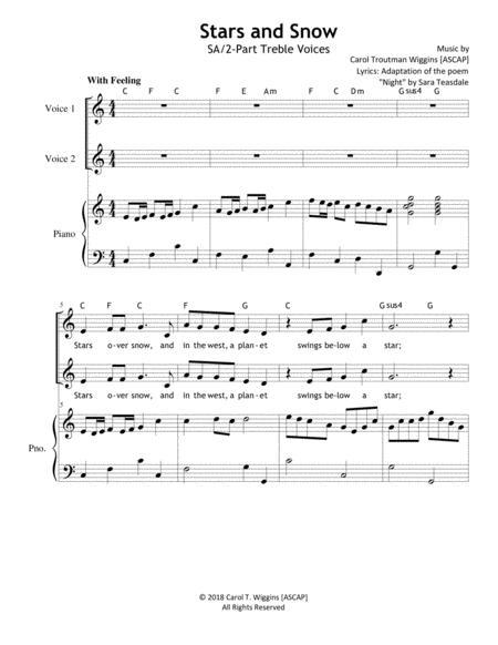 Stars and Snow (SA/2-Part Treble Voices)