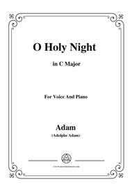 Adam-O Holy night cantique de noel in C Major, for Voice and Piano