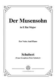 Schubert-Der Musensohn in E flat Major, for Voice and Piano