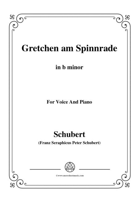 Schubert-Gretchen am Spinnrade in b minor, for Voice and Piano