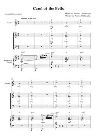 034 Carol Of The Bells 034 Sab Choir With Descant Keyboard Violin Sleigh Bells By Peter J Wilhousky Mykola Leontovych Digital Sheet Music For Individual Part Score Download Print S0 417571
