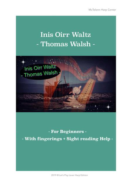 Inis Oirr Waltz - Lever Harp - Only Score - By Eve McTelenn