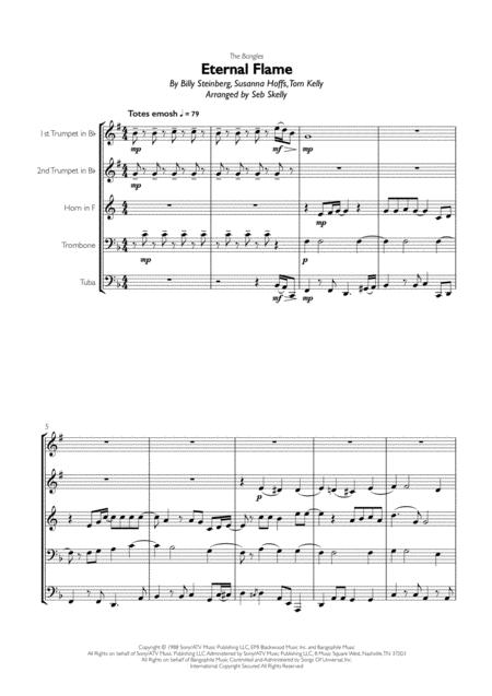 Bangles - Eternal Flame for Brass Quintet