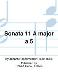 Sonata 11 A major a 5