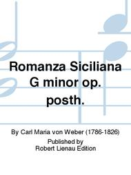 Romanza Siciliana G minor op. posth.