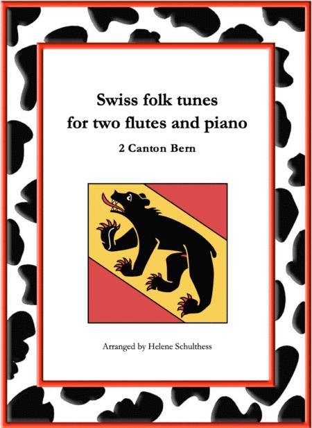 2 Swiss folk tune for two flutes and piano - Polka - Canton Bern