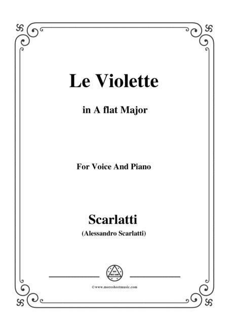 Scarlatti-Le Violette in A flat Major,from Pirro e Demetrio,for voice piano