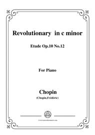 Chopin-Etude Op.10 No.12 in c minor,Revolutionary,for piano
