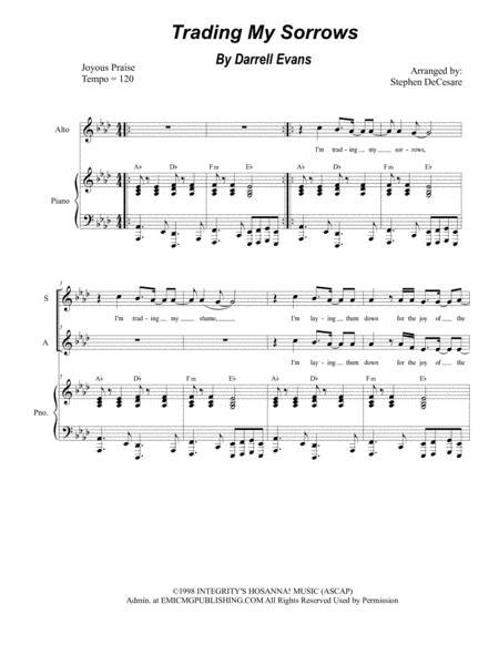 Trading My Sorrows (for 2-part choir - (SA)