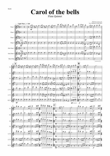 Carol of the Bells - Pentatonix style - Flute Quintet