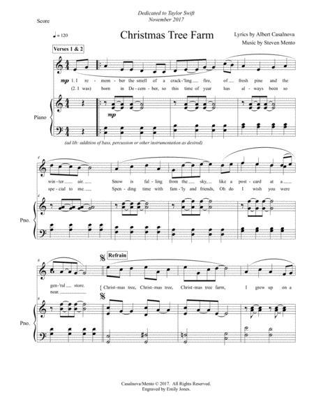 Christmas Tree Farm By Steven Mento Digital Sheet Music For Score Download Print S0 418853 Sheet Music Plus