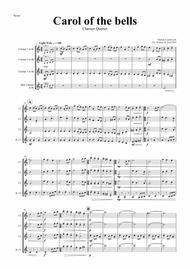 Carol of the Bells - Pentatonix style - Clarinet Quartet