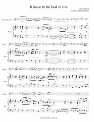 If music be the food of love for tenor recorder and piano