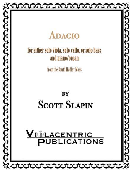 Adagio for solo viola and piano (or cello or bass)