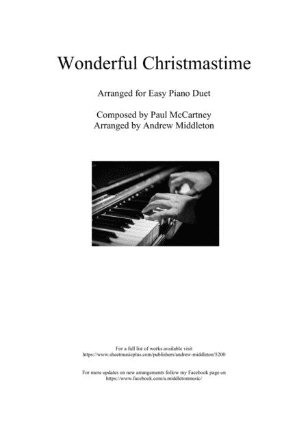 Wonderful Christmastime for Easy Piano Duet
