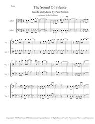 The Sound Of Silence (Easy key of C) - Cello Duet