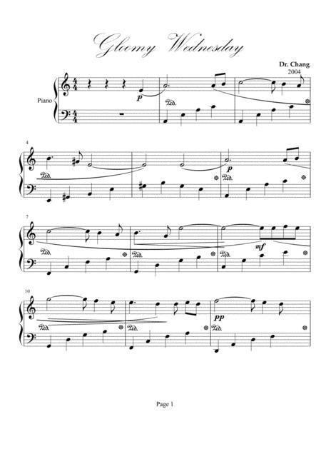 Gloomy Wednesday, Op. 2