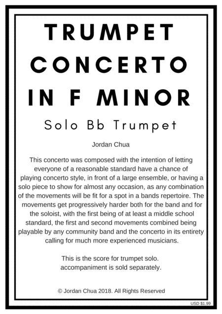 Trumpet Concerto in F minor, Solo Score