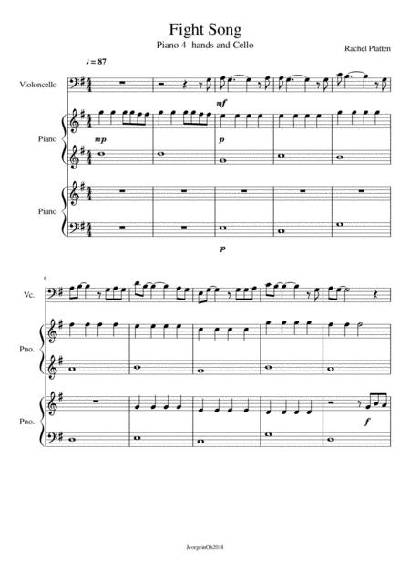 Fight Song -arranged for beginners