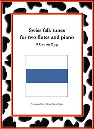 9 Swiss folk tune for two flutes and piano - Trompeten-Polka - Canton Zug