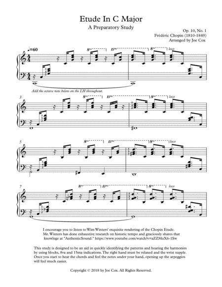 Chopin Etude In C Major Preparatory Study