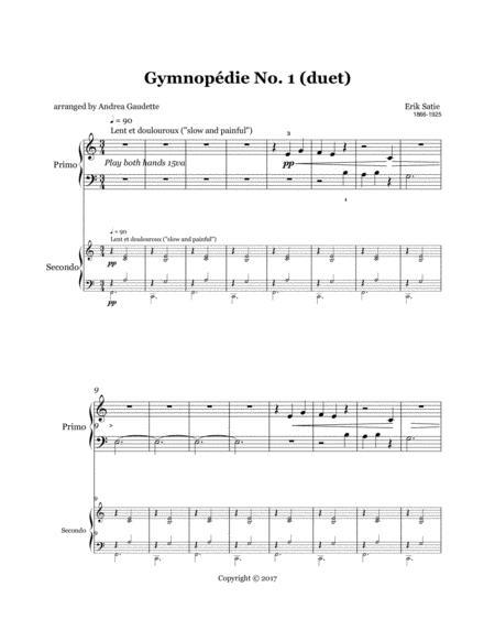 Gymnopédie No. 1 (Piano Duet)